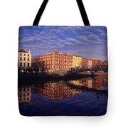 River Liffey And Halfpenny, Bridge Tote Bag