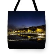 River Liffey, Millenium Footbridge At Tote Bag