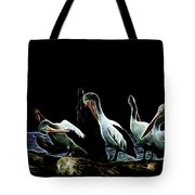 River Murray Pelicans Tote Bag