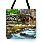 River Rock And A Grist Mill Tote Bag