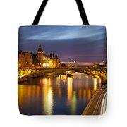 River Seine And The Concierge Tote Bag