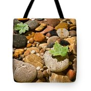 River Stones Tote Bag by Steve Gadomski