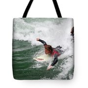 River Surfing Tote Bag