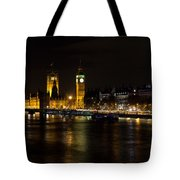 River Thames And Westminster Night View Tote Bag