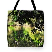 River Through The Trees Tote Bag