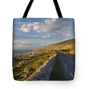 Road Along The Burren Coastline Region Tote Bag