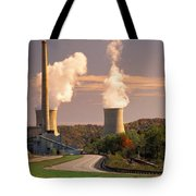 Road And Nuclear Plant.  Kentucky Tote Bag
