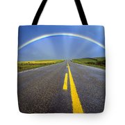 Road And Rainbow Tote Bag