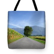 Road And Trees Tote Bag
