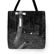 Road Death Cross- La Hwy 15 Tote Bag