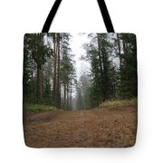 Road In A Pine Grove Tote Bag