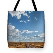 Road Near Ten Sleep Wyoming Tote Bag