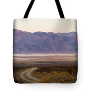 Road Through Death Valley Tote Bag