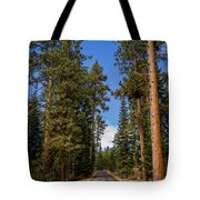 Road Through Lassen Forest Tote Bag