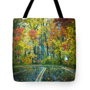 Roadway After The Rain  Tote Bag