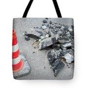 Roadworks - Asphalt And Pylon Tote Bag
