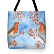 Robin Singing Competition Tote Bag