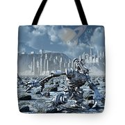 Robots Gathering Rich Mineral Deposits Tote Bag