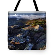 Rock And Fog Tote Bag