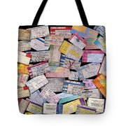 Rock And Roll Memories Tote Bag