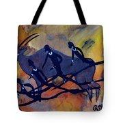 Rock Art No 6  Hunter's And Eland Tote Bag