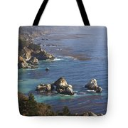Rock Formations Along The Coast Big Sur Tote Bag