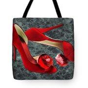 Rock Me Red Pom Poms Tote Bag