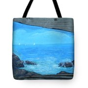 Rock Painting-ocean Sailboats Tote Bag