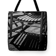 Rocking Chair Lit By The Afternoon Sun Tote Bag