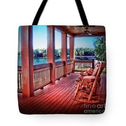 Rocking Chair Porch View Tote Bag