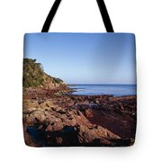 Rockpools In Volcanic Rock Formations Tote Bag