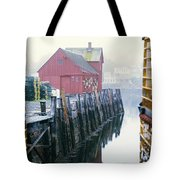 Rockport Harbor And Cages Tote Bag
