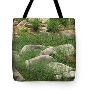 Rocks And Grass At Amidon Conservation Area Missouri Tote Bag