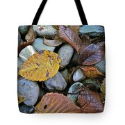 Rocks And Leaves Tote Bag