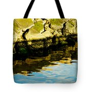 Rocks And Reflections On Ocean Tote Bag