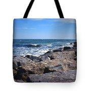 Rocks And The Ocean Tote Bag