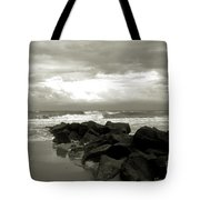 Rocks At Folly Beach Sc Tote Bag