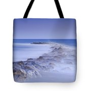 Rocks Fighting Against The Waves Tote Bag