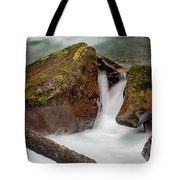 Rocks Of Avalanche Gorge Tote Bag