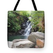 Rocks Of The Falls Tote Bag