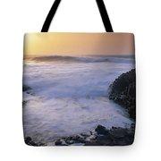 Rocks On The Beach, Giants Causeway Tote Bag