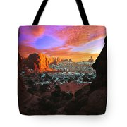 Rocky Buttes Viewed Through Canyon Tote Bag