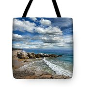 Rocky Coast In Malibu California Tote Bag