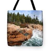 Rocky Maine Coastline. Tote Bag