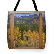 Rocky Mountain Autumn Picture Window Scenic View Tote Bag