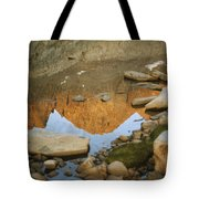 Rocky Mountain Peaks Are Reflected Tote Bag