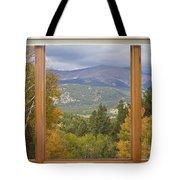 Rocky Mountain Picture Window Scenic View Tote Bag