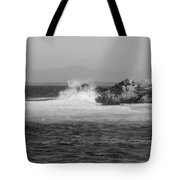 Rocky Outcrop Waves Tote Bag