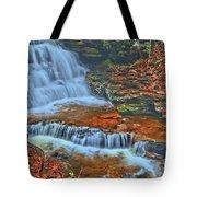 Rocky Pool Falls Tote Bag