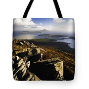 Rocky Vista Of Shoreline Tote Bag